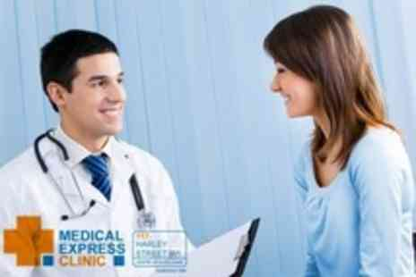 Medical Express Clinic - Full Medical Assessment and Consultation Including Blood Profile and Smear Test For Women - Save 70%