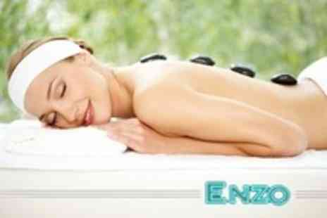 Enzo - One Hour Hot Stone or Swedish Massage or Choice of Facial - Save 63%