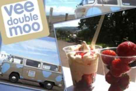 Vee Double Moo - Ice Cream Two Vanilla Sundaes, Cones, or Cups With Toppings - Save 60%