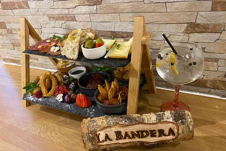 La Bandera Restaurante - Spanish afternoon tea for two with a pink gin and tonic each - Save 62%