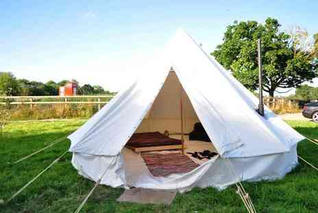 Worcester Glamping - Two night luxury bell tent stay for two people - Save 34%