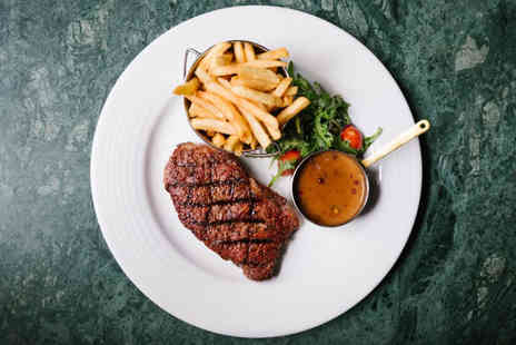 Grand Central Hotel - 8oz rib eye steak dining for two people including a bottle of wine to share - Save 46%