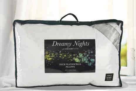 Cascade Home - Two quality duck feather and down pillows - Save 79%
