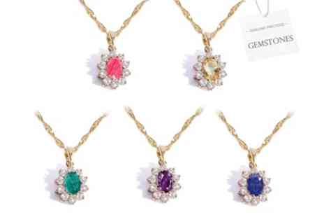 Groupon Goods Global GmbH - Jewellery Genuine Gemstone Necklaces - Save 95%
