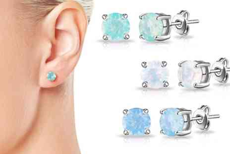 Groupon Goods Global GmbH - One, Two or Three Pairs of Philip Jones Earrings with Crystals from Swarovski - Save 81%