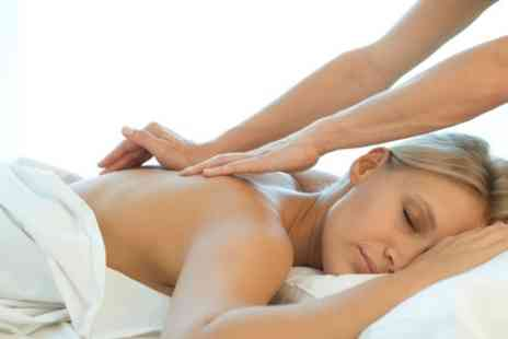 Mizmerise - 30 or 60 minute Aromatherapy Back, Neck and Shoulders or Full Body Massage - Save 43%