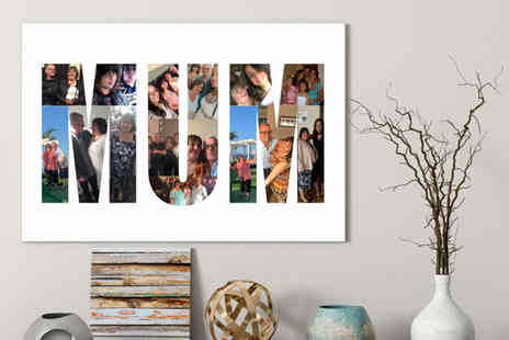 Colour House - Personalised Mothers Day letter collage - Save 74%
