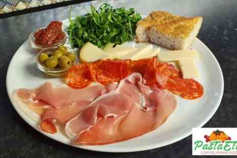 Pasta Etc - Sharing Platter and Wine for Two or Four - Save 33%