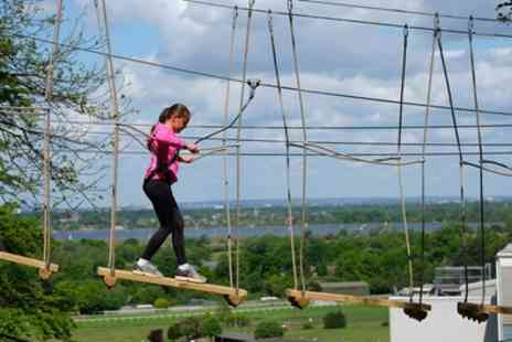 Skywalk Adventure - Two High Rope Course Experiences for Two Adults or Family of Four - Save 52%