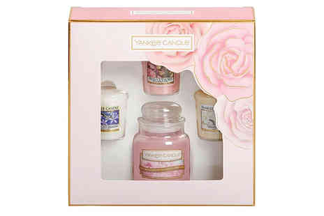 Bentleys Bargain Warehouse - Yankee Candle Mothers Day Candle Gift Set 3 Votives and Small Jar - Save 13%