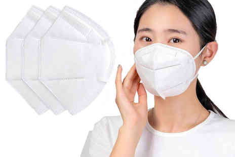 Online Trendz - Pack of three KN95 disposable protective face masks - Save 78%