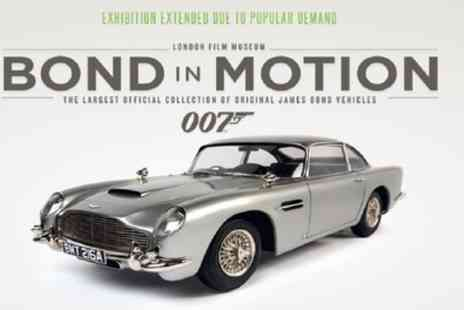 London Film Museum - Bond in Motion Tickets from 13th March To 26th April - Save 50%