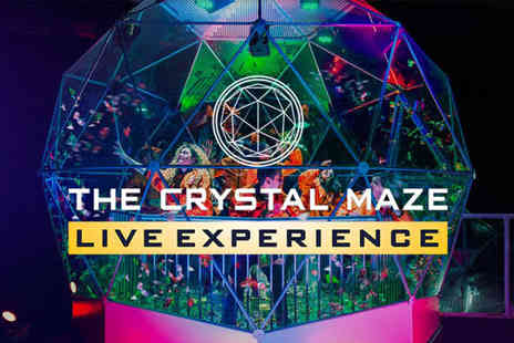 The Crystal Maze Studios - Live experience for four people with a souvenir photo on USB each - Save 53%