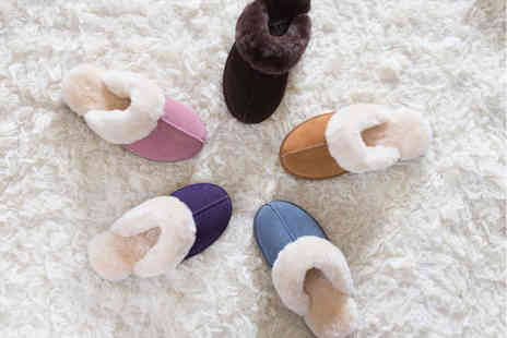 Redfoot - Pair of ladies sheepskin mule slippers - Save 80%