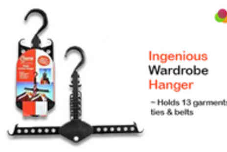 Adask Trading - Two Ingenious Wardrobe Hangers - Save 65%