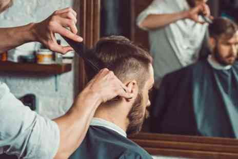 Beauty Unleashed - Mens Wash, Head Scalp Massage, Haircut with Beard Trim or Hot Shave - Save 44%