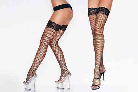 My Voguish - Pair of Lycra fishnet lingerie tights - Save 0%