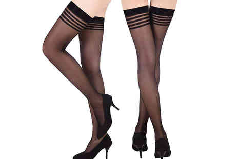 My Voguish - Pair of sheer hold up stockings choose between two colours - Save 0%