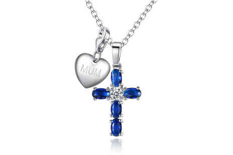 Your Ideal Gift - Personalised lab created sapphire necklace - Save 0%