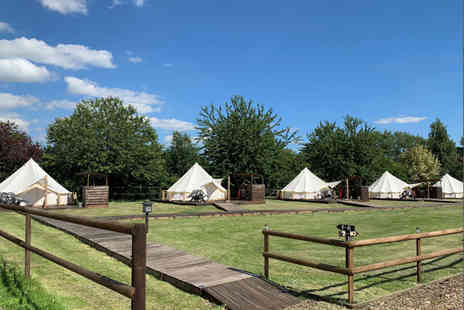 Oaklodge Retreat - Two nights luxury bell tent stay for up to four people with sauna and hot tub access - Save 61%