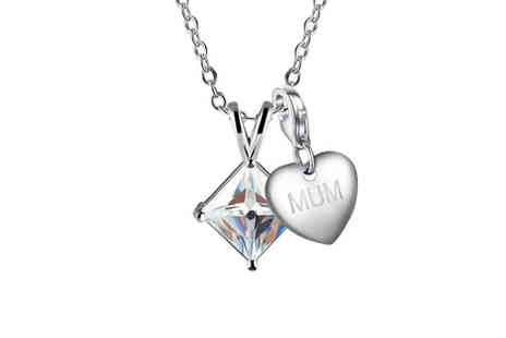Your Ideal Gift - Created crystal V drop pendant and charm necklace choose from 16 options - Save 0%