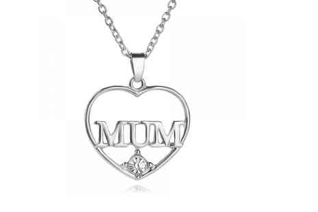 Your Ideal Gift - Mum love heart crystal pendant - Save 80%
