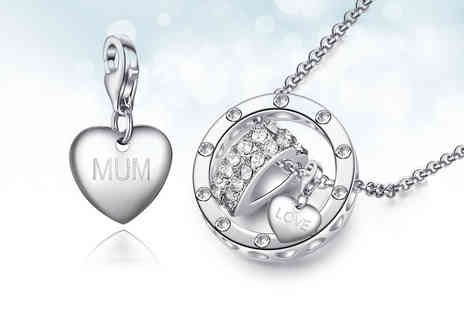 Your Ideal Gift - Heart charm ring pendant necklace choose from 16 charms - Save 0%