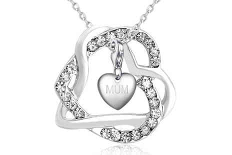 Your Ideal Gift - Personalised locked in heart pendant choose from 16 charm options - Save 0%