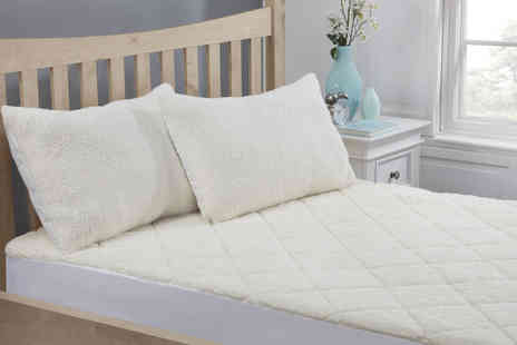 Cascade Home - Single teddy fleece mattress protector with size options - Save 0%