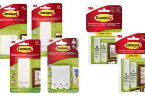 Groupon Goods Global GmbH - One, Two or Five Command Adhesive Picture Strips Four Packs - Save 9%