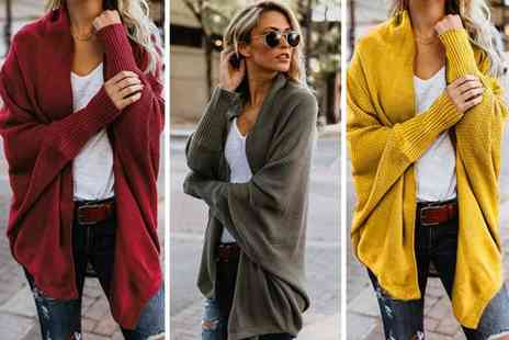 hey4beauty - Long sleeved bat wing cardigan - Save 74%