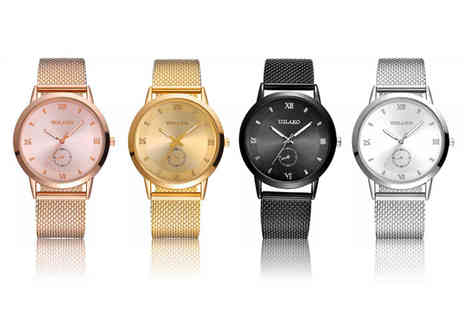 BTG - Ladies mesh watch choose from four colours - Save 82%