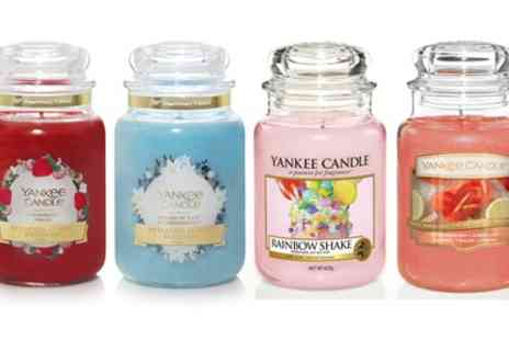 Groupon Goods Global GmbH - Set of Four Yankee Candle Large Jars With Free Delivery - Save 67%