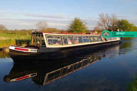 Norbury Wharf - Three hour canal cruise for two people including fish and chips on the Shropshire Union Canal - Save 50%