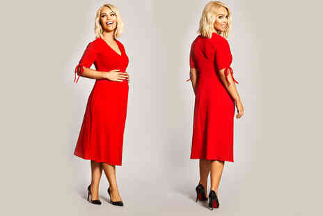 Want That Trend - Katie Piper red maternity tea dress - Save 20%