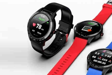 My Blu Fish - L9 Multi Functional Smart Watch Choose from 3 Colours - Save 57%