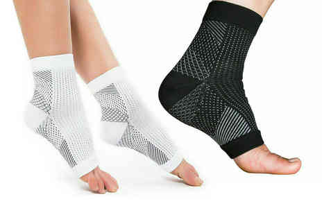 Arther Gold - Pair of anti fatigue toeless compression socks - Save 80%