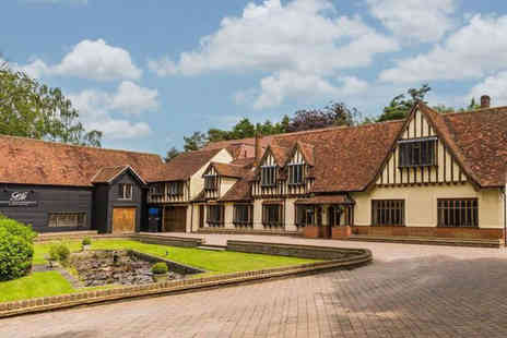 Great Hallingbury Manor - Overnight Bishops Stortford getaway for two people with three course dinner, bottle of house wine and breakfast - Save 46%