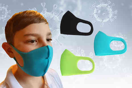 Online Trendz - Pack of three reusable childrens face masks - Save 0%