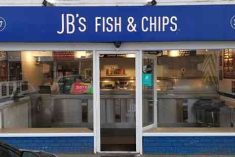 JBs Fish and Chips - Fish and Chips or Burger with Sides and Drink for Up to Four - Save 27%
