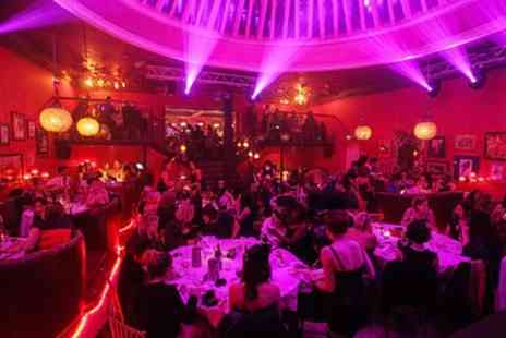 Proud Cabaret Brighton - Burlesque Show Entry with Bottle of Prosecco and Sharing Dinner stand for Two - Save 57%
