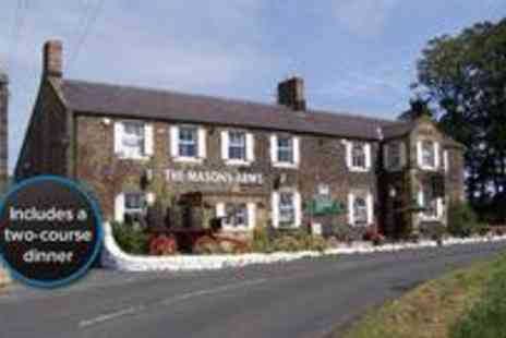 The Masons Arms - Two night Northumberland countryside getaway including breakfast and a two course meal on the first night - Save 53%