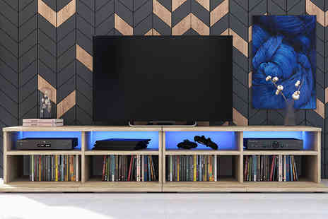 Selsey Living - Phiris 100 cm LED TV stand - Save 47%