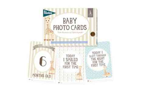 Groupon Goods Global GmbH - One, Two or Three Packs of Sophie La Girafe Milestone Baby Cards - Save 0%