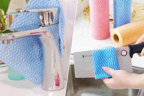 Bag A Bargain - Roll of 50 Fabric Cleaning Cloths choose from 1 or 3 Rolls - Save 75%