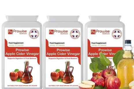 Prowise Healthcare - Year supply of apple cider vinegar capsules - Save 72%