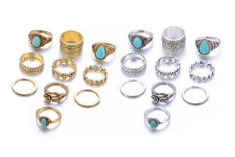 hey4beauty - 10 pack of rings choose your colour - Save 85%