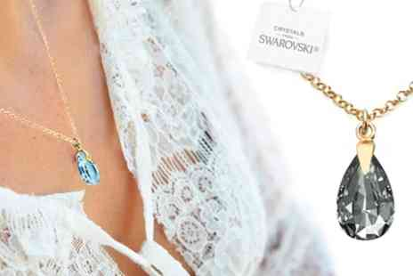 Groupon Goods Global GmbH - Ah Jewellery Pear Necklace with Crystals from Swarovski - Save 89%
