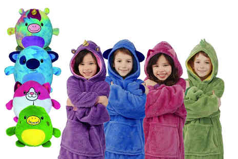 Litnfleek - Two in one hooded blanket and plush toy - Save 62%