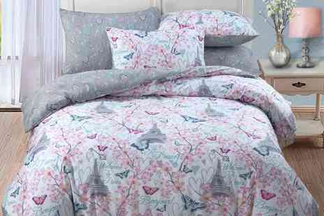 Five Minutes More - Single Sleepdown Paris blossom duvet cover set - Save 0%